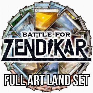 Battle for Zendikar: Full Art Basic Land Set