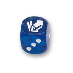 Cardmarket Transparent D6 Die (Blue)