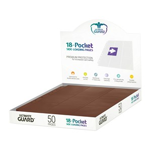 50 Ultimate Guard 18-Pocket Side-Loading Pages (Brown)