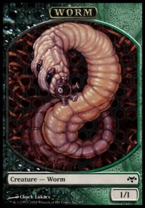 Worm Token (Black and Green 1/1)