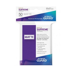 50 Ultimate Guard Supreme UX Matte Sleeves (Purple)
