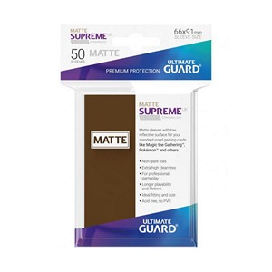 50 Ultimate Guard Supreme UX Matte Sleeves (Brown)