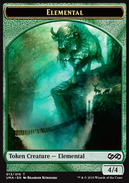 Elemental Token (Green 4/4)
