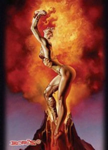 "Artist Gallery: 50 ""Boris Vallejo - Mistress of Fire"" Deck Protector Sleeves"