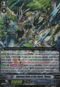 Supreme Ruler of the Storm, Thavas [G Format] (Version 1 - Triple Rare)