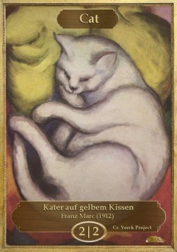 Cat Token (White 2/2) (V.1)