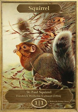 Squirrel Token (Green 1/1) (Version 1)