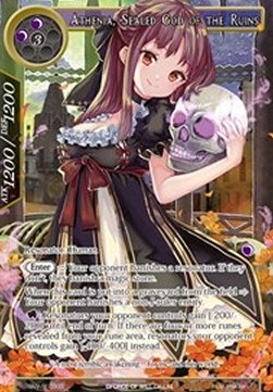 Athenia, Sealed God of the Ruins (Version 2 - Secret Rare)