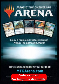 Arena Code Card (Gift Pack)