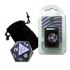 Blackfire Spindown D20 Die (Purple)
