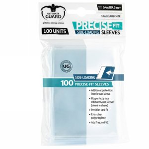 100 Ultimate Guard Precise Fit Sideloading Sleeves (Translucent)