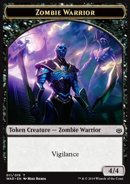 Zombie Warrior Token (Black 4/4)