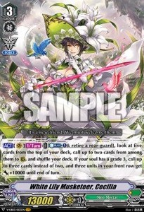 White Lily Musketeer, Cecilia (Version 1 - Vanguard Rare)