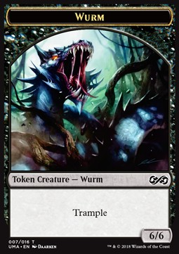 Wurm Token (Black 6/6 Trample)