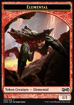Elemental Token (Red 1/1) (Version 1)