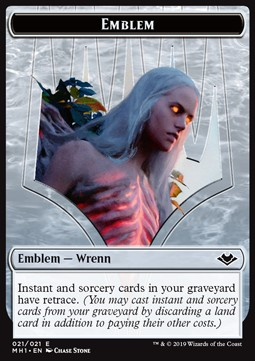 Elemental Token (R 1/1) // Wrenn and Six Emblem
