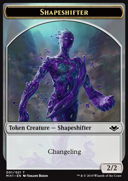 Shapeshifter Token (C 2/2) // Squirrel Token (G 1/1)