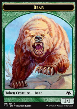 Elemental Token (R 1/1) // Bear Token (G 2/2)