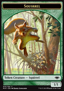 Elemental Token (R 1/1) // Squirrel Token (G 1/1)