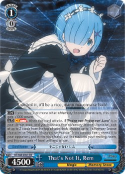That's Not It, Rem (V.1 - Double Rare)