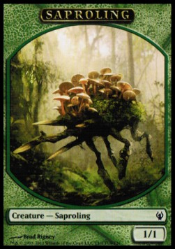Saproling Token (Green 1/1)