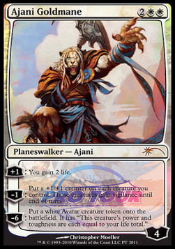 English Lorwyn MTG Magic 1x Ajani Goldmane Light Play