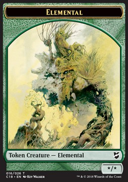 Elemental Token (Green */*)