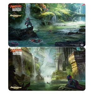 "Grand Prix Providence 2017 ""Search for Azcanta / Azcanta, the Sunken Ruin"" Double-Sided Playmat"