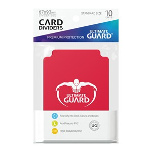 10 Ultimate Guard Dividers (Red)