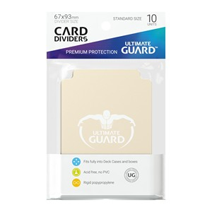 10 Ultimate Guard Dividers (Sand)