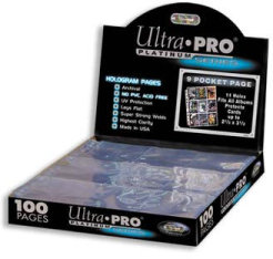 100 Ultra Pro PLATINUM Nine Pocket Pages