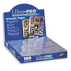 100 Ultra Pro SILVER Nine Pocket Pages