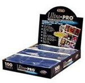 100 Ultra Pro PLATINUM Nine Pocket Pages with Write-on Strip