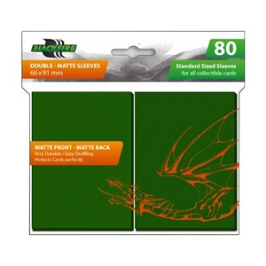 80 Blackfire Double-Matte Sleeves (Green)