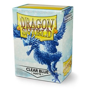 100 Dragon Shield Sleeves - Matte Clear Blue