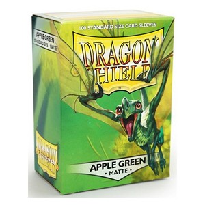 100 Dragon Shield Sleeves - Matte Apple Green