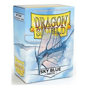 100 Dragon Shield Sleeves - Matte Sky Blue