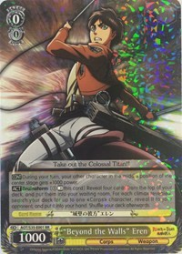 """Beyond the Walls"" Eren (Version 1 - Double Rare)"