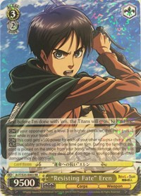 """Resisting Fate"" Eren (Version 1 - Double Rare)"