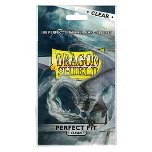 100 Dragon Shield Perfect Fit Sleeves - Clear