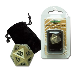 Blackfire Spindown D20 Die (Antique Gold)