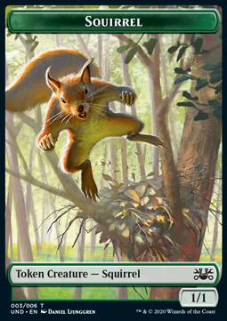 Squirrel Token (Green 1/1)