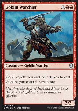 Magic the Gathering Dominaria  MTG 1x GOBLIN CHAINWHIRLER Goblin NM