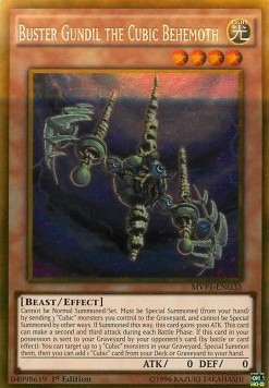 Buster Gundil the Cubic Behemoth (Version 2 - Gold Rare)