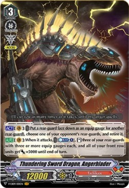 Thundering Sword Dragon, Angerblader (V.1 - Vanguard Rare)