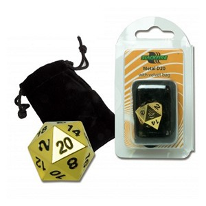 Blackfire Spindown D20 Die (Gold)
