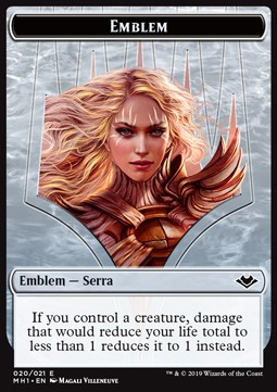 Elemental Token (R 1/1) // Serra the Benevolent Emblem