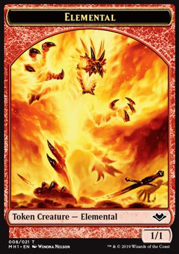 Elemental Token (Red 1/1)