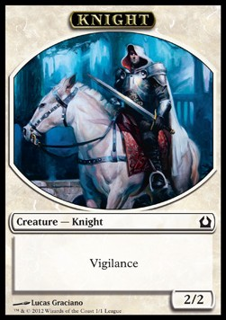 Knight Token (White 2/2 Vigilance)