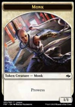 Monk Token (White 1/1 Prowess)
